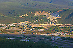 On the road to Solomon's Dome, Dawsan City, The Yukon Territory, Canada Gold mining at Dawson City