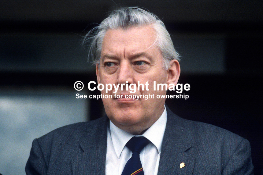 Rev Ian Paisley, leader, DUP, Democratic Unionist Party, N Ireland, UK, Assemblyman, Stormont Parliament, MP, Westminster Parliament, and MEP, European Parliament. 19840056IP1..Copyright Image from Victor Patterson, 54 Dorchester Park, Belfast, UK, BT9 6RJ..Tel: +44 28 9066 1296.Mob: +44 7802 353836.Voicemail +44 20 8816 7153.Skype: victorpattersonbelfast.Email: victorpatterson@me.com.Email: victorpatterson@ireland.com (back-up)..IMPORTANT: If you wish to use this image or any other of my images please go to www.victorpatterson.com and click on the Terms & Conditions. Then contact me by email or phone with the reference number(s) of the image(s) concerned.