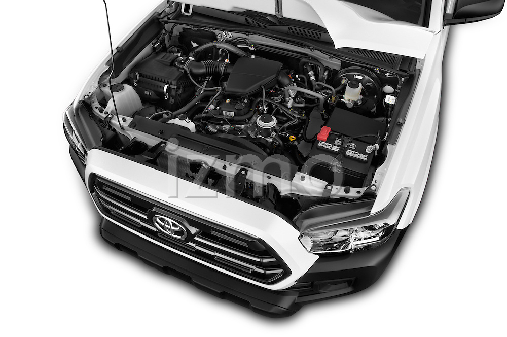 Car Stock 2017 Toyota Tacoma SR-Access 4 Door Pick-up Engine  high angle detail view