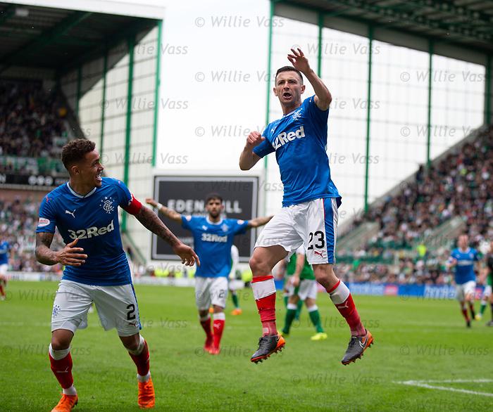 13.05.2018 Hibs v Rangers: Jason Holt celebrates his first goal