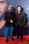 Cinema director Jose Corbacho (L) attends David Bisbal´s new music album premiere photocall at Callao cinema in Madrid, Spain. March 17, 2014. (ALTERPHOTOS/Victor Blanco)