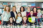 Scriobh Leabhar annual awards for Kerry schools at The Education Centre, Drumtacker on Monday. Pictured  l-r  Grace Cahill, Mairead Mochan, Kiera Cahill and Ella murphy from Scoil Mhuire, Knocknagoshel. Back l-r  Trish Mocken, Norma Cahill, Ann Marie Murphy, Patricia Cusack, Teacher, Tracy Cahill and Ben Cahill
