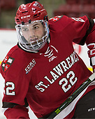 Ben Finkelstein (SLU - 22) - The Harvard University Crimson defeated the St. Lawrence University Saints 6-3 (EN) to clinch the ECAC playoffs first seed and a share in the regular season championship on senior night, Saturday, February 25, 2017, at Bright-Landry Hockey Center in Boston, Massachusetts.