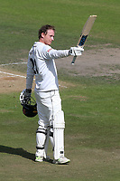 Tom Westley of Essex acknowledges the crowd after reaching his century during Nottinghamshire CCC vs Essex CCC, Specsavers County Championship Division 1 Cricket at Trent Bridge on 13th September 2018