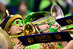 COLUMBUS, OH - MARCH 30: Notre Dame band members play during their game against Connecticut during a semifinal game of the 2018 NCAA Division I Women's Basketball Final Four at Nationwide Arena in Columbus, Ohio. (Photo by Ben Solomon/NCAA Photos via Getty Images)