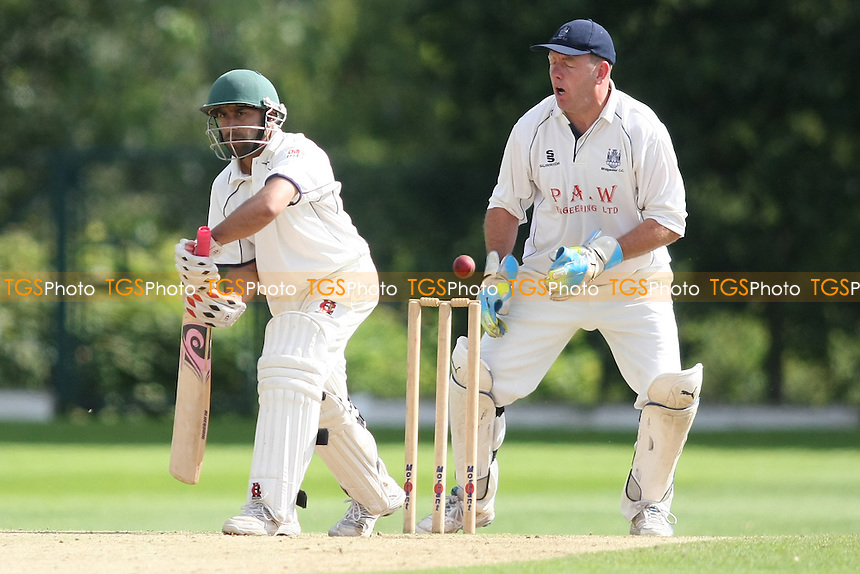 Adnan Akram of Wanstead - Wanstead CC vs Bridgwater CC - Kingfisher National Cricket Cup at Overton Drive - 05/08/12 - MANDATORY CREDIT: George Phillipou/TGSPHOTO - Self billing applies where appropriate - 0845 094 6026 - contact@tgsphoto.co.uk - NO UNPAID USE.