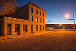 Nixon-WIngfield Block building, evening, Goldfield, Nev.
