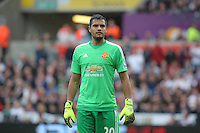 Pictured: Sunday 30 August 2015<br /> Re: Premier League, Swansea v Manchester United at the Liberty Stadium, Swansea, UK
