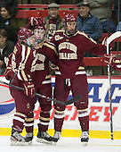 Austin Cangelosi (BC - 26), Ryan Fitzgerald (BC - 19), Kevin Hayes (BC - 12) - The visiting Boston College Eagles defeated the Harvard University Crimson 5-1 on Wednesday, November 20, 2013, at Bright-Landry Hockey Center in Cambridge, Massachusetts.