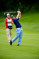 06/24/09 - Photo by John Cheng for Newsport.  PGA Pro Kevin Streelman hits from the fairway at the Travelers Championship at the TPC River Highlands in Cromewll Connecticut.