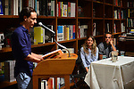 CORAL GABLES, FL - AUGUST 06: Nick Vagnoni, Tiffany Noe and George Echevarria discusses and sign copies of 'Forager: A Subjective Guide to Miami's Edible Plants' at Books and Books on Wednesday August 6, 2014 in Coral Gables, Florida. (Photo by Johnny Louis/jlnphotography.com)