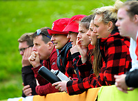Fans watch the 2017 National Hockey League Men's final between Auckland and North Harbour at National Hockey Stadium in Wellington, New Zealand on Sunday, 24 September 2017. Photo: Dave Lintott / lintottphoto.co.nz