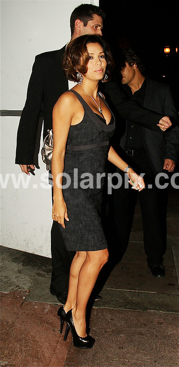 **ALL ROUND PICTURES FROM SOLARPIX.COM**.**WORLDWIDE SYNDICATION RIGHTS EXCEPT FOR USA, AUSTRALIA & GERMANY**.Eva Longoria was spotted leaving her own Restaurant Beso in Hollywood Los Angeles California in the USA...JOB REF:7773-LAS       DATE:01-11-08.**MUST CREDIT SOLARPIX.COM OR DOUBLE FEE WILL BE CHARGED* *UNDER NO CIRCUMSTANCES IS THIS IMAGE TO BE REPRODUCED FOR ANY ONLINE EDITION WITHOUT PRIOR PERMISSION*