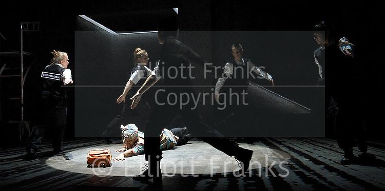 Glasgow Girls<br /> by David Greig<br /> directed by Cora Bissett<br /> at The Theatre Royal Stratford East, London, Great Britain <br /> press photocall <br /> 13th February 2013 <br /> <br /> Callum Cuthbertson as Mr Girvan<br /> <br /> Amiera Darwish as Roza<br /> <br /> Roanna Davidson as Agnesa<br /> <br /> Myra McFadyen as Noreen<br /> <br /> Stephanie McGregor as Ewelina<br /> <br /> Joanne McGuinness as Emma<br /> <br /> Amaka Okafor as Amal<br /> <br /> Patricia Pantha <br /> <br /> Dawn Sievewright as Jennifer <br /> <br /> Photograph by Elliott Franks