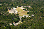 Aerial view of Chichen Itza in Mexico