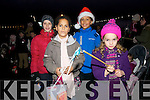 Aaron Scharer, Naomi and Ossian Antar (Minard) and Aisha Scharer (Dingle) at the Children's Lanterns Parade during Feile na Saoilse in Dingle on Sunday evening.