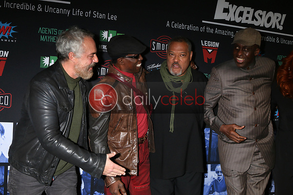 """Titus Welliver, Wesley Snipes, Laurence Fishburne, Bill Duke<br /> at """"Excelsior! A Celebration of the Amazing, Fantastic, Incredible & Uncanny Life of Stan Lee,"""" TCL Chinese Theater, Hollywood, CA 01-30-19<br /> David Edwards/DailyCeleb.com 818-249-4998"""