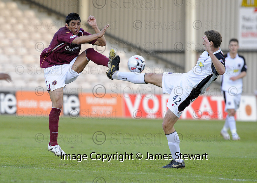 13/05/2008   Copyright Pic: James Stewart.File Name : sct_jspa01_gretna_v_hearts.FERNANDO SCREPTIS AND ROSTYN GRIFFITHS CHALLENGE.James Stewart Photo Agency 19 Carronlea Drive, Falkirk. FK2 8DN      Vat Reg No. 607 6932 25.Studio      : +44 (0)1324 611191 .Mobile      : +44 (0)7721 416997.E-mail  :  jim@jspa.co.uk.If you require further information then contact Jim Stewart on any of the numbers above........