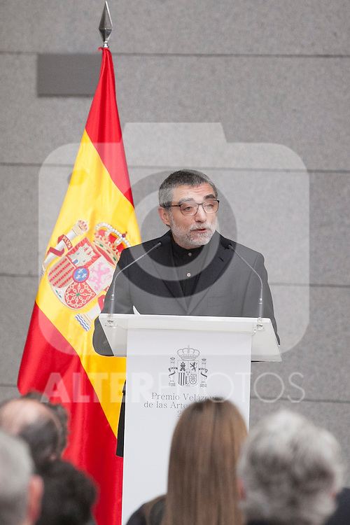 The 2013 Velazquez Visual Arts Award winner Jaume Plensa during the ceremony at Prado Museum in Madrid, Spain. November 17, 2014. (ALTERPHOTOS/Victor Blanco)