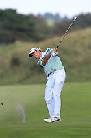 JB Hansen (DEN) on the 9th during Round 2 of the KLM Open at Kennemer Golf &amp; Country Club on Friday 12th September 2014.<br /> Picture:  Thos Caffrey / www.golffile