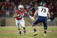 STANFORD, CA - November 18, 2017: Peter Kalambayi at Stanford Stadium. The Stanford Cardinal defeated Cal 17-14 to win its eighth straight Big Game.
