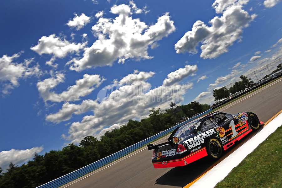 Aug. 7, 2009; Watkins Glen, NY, USA; NASCAR Sprint Cup Series driver Martin Truex Jr during practice for the Heluva Good at the Glen. Mandatory Credit: Mark J. Rebilas-