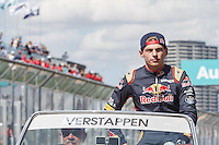 March 20, 2016: Max Verstappen (NDL) #33 from the Scuderia Toro Rosso team at the drivers' parade prior to the 2016 Australian Formula One Grand Prix at Albert Park, Melbourne, Australia. Photo Sydney Low