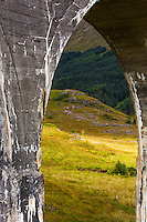 This is a section of the bridge for the magical train in the Harry Potter movie, near the Isle of Skye, Scotland