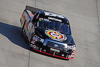 May 30, 2008; Dover, DE, USA; Nascar Craftsman Truck Series driver Kyle Busch during the AAA Insurance 200 at Dover International Speedway. Mandatory Credit: Mark J. Rebilas-US PRESSWIRE.