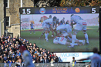 A general view of the big screen at the Recreation Ground. Aviva Premiership match, between Bath Rugby and Exeter Chiefs on October 27, 2012 at the Recreation Ground in Bath, England. Photo by: Patrick Khachfe / Onside Images