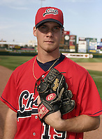 June 14, 2004:  /p/ David Bush (19) of the Syracuse Sky Chiefs, Class-AAA International League affiliate of the Toronto Blue Jays, during a game at Frontier Field in Rochester, NY.  Photo by:  Mike Janes/Four Seam Images
