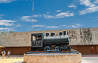 Antigua maquina en exhibici&oacute;n en Ferromex.<br /> Tren o ferrocarriles mexicanos. Ahora conicido como Ferromex. Estacion de tren FERROMEX en Hermosillo<br /> (Photo: /Luis Gutierrez)..<br /> ..<br /> <br /> pclaves: vias, ferrocarril, transporte traen, maquina,