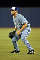 May 23rd 2008:  Infielder Lyle Overbay (17) of the Toronto Blue Jays during a game at the Rogers Centre in Toronto, Ontario, Canada .  Photo by:  Mike Janes/Four Seam Images