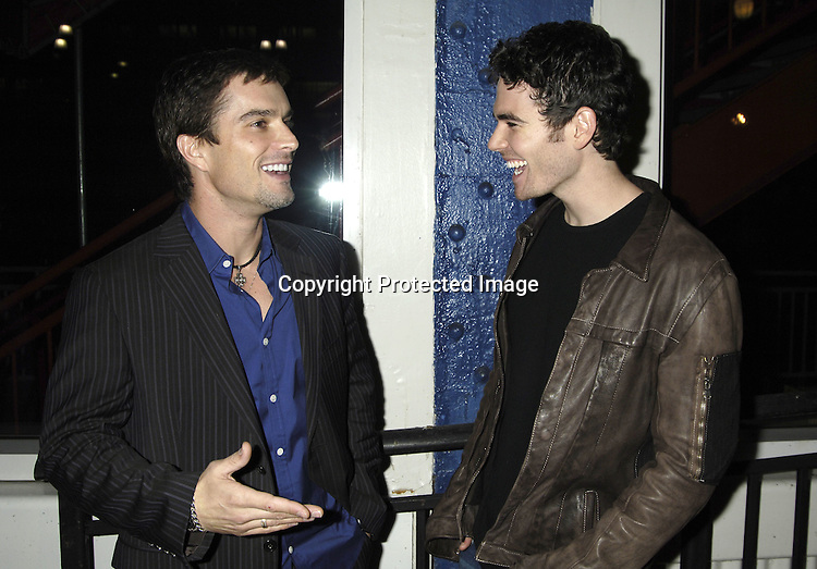 Rick Hearst and Matt Maracinni of General Hospital ..at ABC Casino Night on October 27, 2005 at The Lighthouse at Chelsea Piers. ..Photo by Robin Platzer, Twin Images
