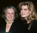 Brooke Shields and mom Teri Shields in  New York City. 1989.