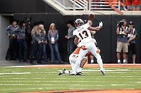 STILLWATER, OK - SEPTEMBER 19, 2015: The Oklahoma State University Cowboys defeat the University of Texas at San Antonio Roadrunners 69-14 at the Boone Pickens Stadium. (Photo by Jeff Huehn)