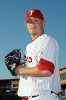 Feb 20, 2009; Clearwater, FL, USA; The Philadelphia Phillies pitcher Joe Bisenius (49) during photoday at Bright House Field. Mandatory Credit: Tomasso De Rosa/ Four Seam Images