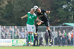 08.09.2018, pk-Sportpark, Cloppenburg, GER, FSP, SV Meppen vs Werder Bremen <br /> <br /> DFL REGULATIONS PROHIBIT ANY USE OF PHOTOGRAPHS AS IMAGE SEQUENCES AND/OR QUASI-VIDEO.<br /> <br /> im Bild / picture shows<br /> Davy Klaassen (Werder Bremen #30) im Duell / im Zweikampf mit Julian von Haacke (SV Meppen #04), <br /> <br /> Foto &copy; nordphoto / Ewert
