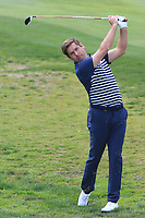 Robert Rock (ENG) on the 1st fairway during Round 3 of the Open de Espana 2018 at Centro Nacional de Golf on Saturday 14th April 2018.<br /> Picture:  Thos Caffrey / www.golffile.ie<br /> <br /> All photo usage must carry mandatory copyright credit (&copy; Golffile | Thos Caffrey)