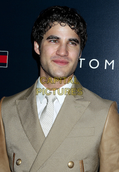 Darren Criss.Tommy Hilfiger West Coast Flagship Grand Opening Event, West Hollywood, California, USA, .13th February 2013 ..portrait headshot white shirt beige jacket double breasted .CAP/ADM/RE.©Russ Elliot/AdMedia/Capital Pictures.