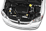 Car Stock2015 Dodge Grand Caravan SXT PLUS 5 Door Minivan Engine high angle detail view