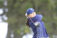 Angel Yin (USA) on the 2nd tee during Day 3 Singles at the Solheim Cup 2019, Gleneagles Golf CLub, Auchterarder, Perthshire, Scotland. 15/09/2019.<br /> Picture Thos Caffrey / Golffile.ie<br /> <br /> All photo usage must carry mandatory copyright credit (© Golffile | Thos Caffrey)