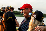 STILLWATER, OK - MAY 23: Arizona athletic director Dave Heeke congratulations his team on winning the Division I Women's Golf Team Match Play Championship held at the Karsten Creek Golf Club on May 23, 2018 in Stillwater, Oklahoma. (Photo by Shane Bevel/NCAA Photos via Getty Images)