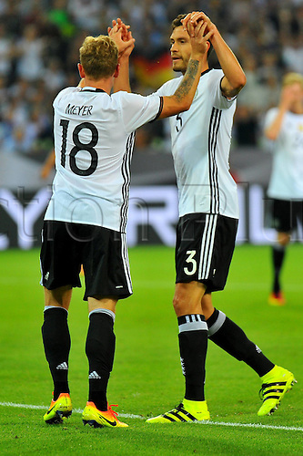 31.08.2016 Moenchengladbach, Germany. International football freindly. Germany versus Finland.  Max MEYER(GER), Jonas HECTOR (GER).