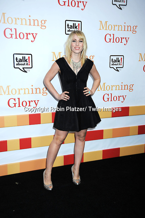 "Natasha Bedingfield attending the World Premiere of "" Morning Glory"" starring Harrison Ford, Diane Keaton and Rachel McAdams on November 7, 2010 at The Ziegfeld Theatre in New York City."