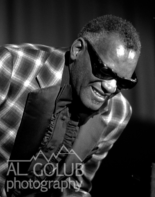 Modesto, California--Ray Charles preforms at Modesto Junior College Auditorium int the early 1970's  Photo by Al Golub/Golub Photography