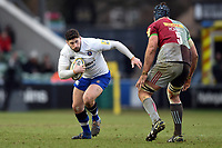Nathan Charles of Bath Rugby in possession. Aviva Premiership match, between Harlequins and Bath Rugby on March 2, 2018 at the Twickenham Stoop in London, England. Photo by: Patrick Khachfe / Onside Images