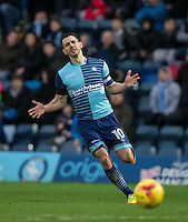 Matt Bloomfield of Wycombe Wanderers during the Sky Bet League 2 match between Wycombe Wanderers and Crawley Town at Adams Park, High Wycombe, England on 25 February 2017. Photo by Andy Rowland / PRiME Media Images.