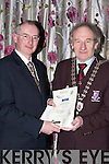 John McElligott receives the Best Public Building for the Department of Arts, Sports and Tourism from Mayor Michael Gleeson at the Killarney Looking Good annual awards in the Dromhall Hotel on Thursday night