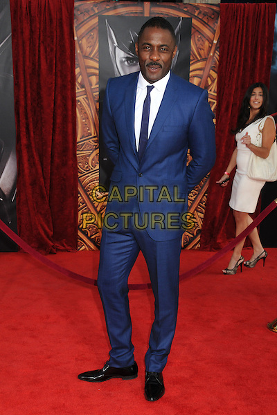 "IDRIS ELBA.""Thor"" Los Angeles Premiere held at the El Capitan Theatre, Hollywod, California, USA..May 2nd, 2011.full length blue suit white shirt.CAP/ADM/BP.©Byron Purvis/AdMedia/Capital Pictures."